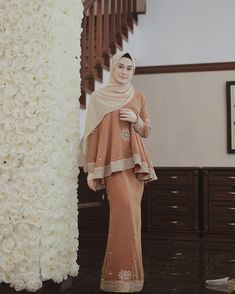 Kebaya Hijab, Kebaya Dress, Dress Pesta, Kebaya Muslim, Muslim Dress, Wedding Hijab Styles, Hijab Wedding Dresses, Hijab Dress Party, Hijab Style Dress