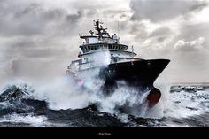 philip plisson   Poster photo L'Abeille Bourbon, remorqueur de haute mer Philip Plisson