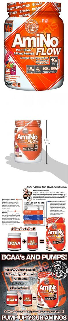 Muscle Elements Amino Flow, Multi-Purpose BCAA & Nitric Oxide Booster for Muscle Fullness, Endurance and Protein Synthesis, Fruit Punch, 60 Serving Amino Acid Supplements, Fruit Punch, Amino Acids, Healthy Choices, Flow, Purpose, Protein, Muscle, Workout