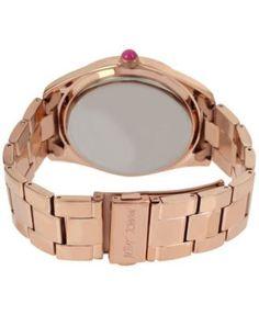 Betsey Johnson Women's Rose Gold-Tone Bracelet Watch 44mm BJ00249-40 - Gold