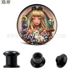 fashion black acrylic gauge ear plug flesh tunnel body jewelry piercing 6 25mm sale in pair-in Body Jewelry from Jewelry on Aliexpress.com