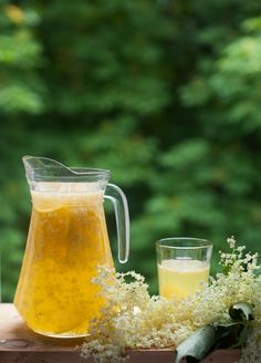 Elderflower lemonade.