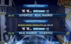 Juventus-Real Madrid Andata e Ritorno in Chiaro su Canale 5 #diretta #tv #juve-real #video #champions Soccer Memes, Lewandowski, Champions League, Real Madrid, Video, Love Story, Mario, Tv, Football Memes