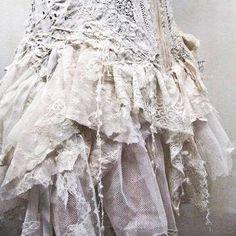 Ruffles , antique lace . Just beautiful