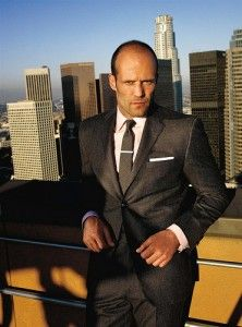 Jason Statham is my favorite, probably in part because he reminds me of my fiance. I like this suit, but not so shiny.
