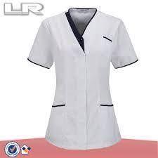 Resultado de imagen para uniformes medicos con cuello chino Scrubs Uniform, Maid Uniform, Dental Uniforms, Corporate Wear, Uniform Design, Nursing Dress, Dental Assistant, African Fashion, Chef Jackets