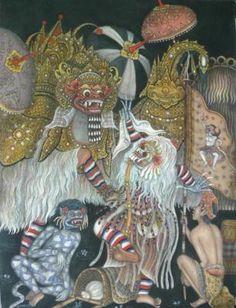 Hand Painting Balinese Bali Barong   eBay