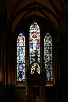 George Herbert window in Salisbury Cathedral