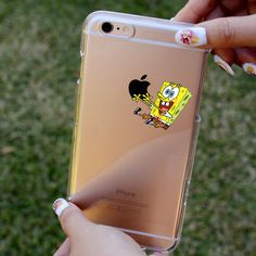 SpongeBob SquarePants Clear iPhone case for iphone by cerokan
