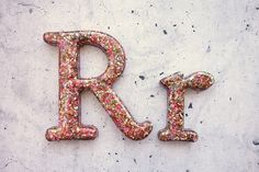 Glitter Letter R, Resin Letter Filled with Glitter, Glitter Home Decor. Decorative Glitter Letter R, Silver, Gold, Red, Green, Blue, Pink by WordosaurusText on Etsy https://www.etsy.com/listing/190816224/glitter-letter-r-resin-letter-filled: