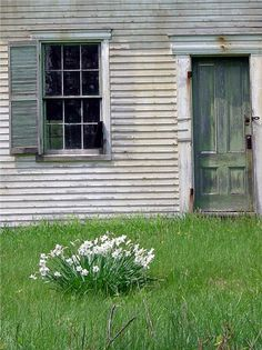 Old abandoned home on Swan Island, Maine
