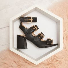 Buckle up ladies because the new collection is OUT! Stylish Sandals, Shoe Dazzle, Truffles, Shoes Online, Block Heels, Ankle Strap, Footwear, Honey Shop, Lady