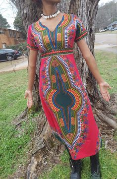 Dashiki Dress door EmpressoftheSea19 op Etsy https://www.etsy.com/nl/listing/270085130/dashiki-dress