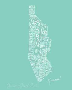 Manhattan districts #Map