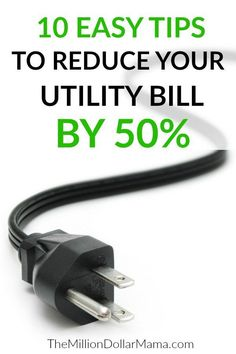 How to save electricity - these 10 tips will help you save money on your electric bill!