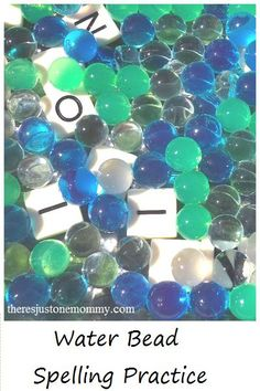 how to make spelling word practice more fun with water beads