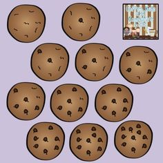 FREE Counting Cookies Graphics {Personal/Commercial Use} by Classroom Chit Chat Creative Teaching, Teaching Tools, Teaching Math, Teaching Ideas, Preschool Math, Kindergarten Math, Maths, Math Games, Math Activities