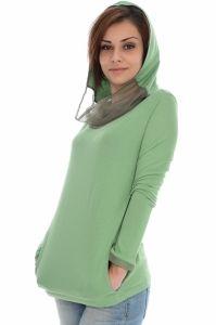 Bluza  PUMA  pentru femei WN MESH PANEL HOODY - 559733_10. Faimosul designer Hussein Chalayan a creat aceasta bluza pentru doamnele si domnisoarele care vor sa adopte un nou stil, modern si deosebit. Cu maneci lungi, intr-un design feminin, acest stil este perfect pentru orice tinuta. Este confectionat 60% din bumbac organic si 40% modal, jerseu unic, dispune de o gluga cu esarfa integrata, care va ofera un aspect elegant, atat gluga cat si esarfa, au captuseala din plasa, foarte…