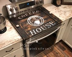 Noodle board / stove cover, stovetop cover, boards for stove, farmhouse stove cover, farmhouse sign / stove board Tapas, Stove Board, Stove Top Cover, Stove Covers, Kitchen Stove, Kitchen Redo, Kitchen Styling, Kitchen Island, Kitchen Cabinets