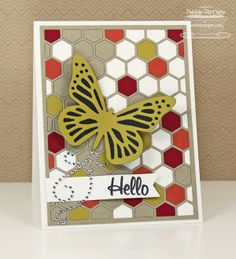 Butterfly Hello card by Debbie Carriere