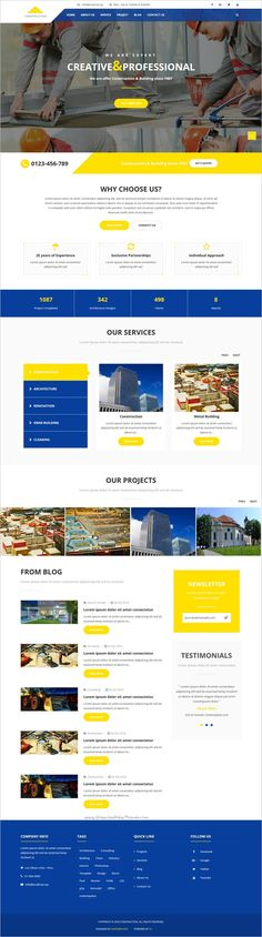 Construction is a modern design responsive 3in1 #Joomla template for #webdev #Construction, ‍♀️ Renovation, Architecture, Handyman or Industrial business website download now➩  https://themeforest.net/item/construction-building-business-joomla-theme/18937946?ref=Datasata