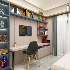 Kids rooms decor – Home Decor Decorating Ideas Small Room Bedroom, Kids Bedroom, Bedroom Decor, Teenage Room, Home Office Design, Boy Room, Home Decor, Ikea, Study