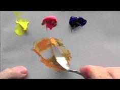 ▶ Acrylic Painting Beginners Basics - 3 | Acrylic Paint Mixing | Acrylic Colour Mixing Tutorial - YouTube