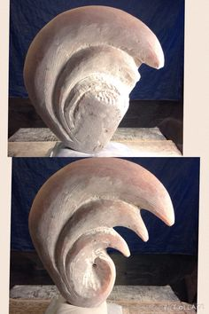 Opus 177 Utah Alabaster Beginning to take form. #peterbellonci #sculptor #stone #sculpture #sculture #artist #artwork #abstract#Austin #hand-tooled