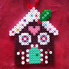 Gingerbread house - Christmas hama beads by liddiasr
