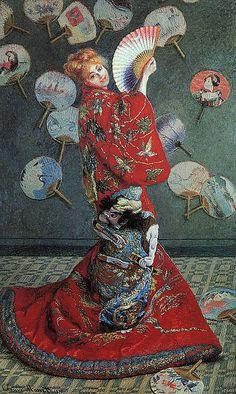 Monet--La Japonaise (Camille Monet in Japanese Costume)