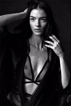 Peter Lindbergh, Mariacarla Boscono for Vogue Italia January 2014.