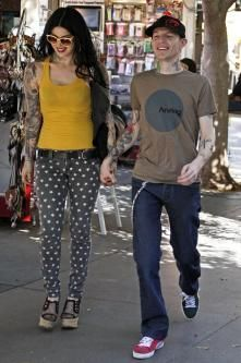 Kat Von D and Deadmau5, love her style in this pic!!