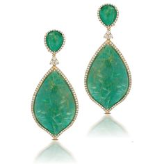Green Agate and Diamond Earrings Available at Houston Jewelry!  www.houstonjewelry.com Diamond Earrings, Drop Earrings, Green Agate, Designer Earrings, Emerald, Houston, Dreams, Jewelry, Style