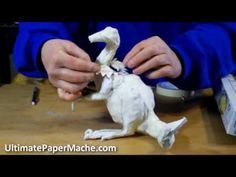 http://ultimatepapermache.com/sculpt-a-dragon-1  See how I build the armature for a dragon sculpture in this video. You can find a printable pattern for this dragon if you click on that link. The methods and materials used for this dragon are the same as the ones I used in my book  Make Animal Sculptures with Paper Mache Clay - you can find it...