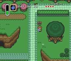 Link destroys the evidence in The Legend of Zelda: A Link to the Past, SNES. Link has always been a rebel.