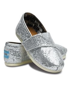 This Silver Glitter Classics - Tiny by TOMS is perfect! #zulilyfinds