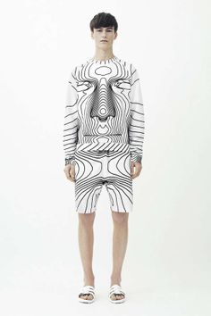 Vibrant 3D-Printed Menswear - The New Christopher Kane Collection is Inspired by 3D Body Mapping (GALLERY)