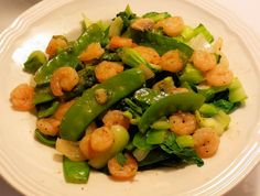 Surprise! Are you surprised to finally see a 'Simply Delicious' recipe, 'Snow Peas, Bok Choy and Shrimp Stir Fry'? Greetings oh gracious followers, I thought I would give you a treat, my favorite Asian dish.