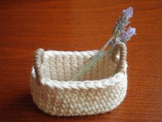 Small Basket FREE SHIPPING Home Decor Unique by PetitesByYurika