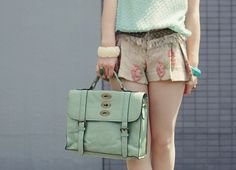 mint with floral