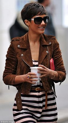 Nothing makes a pixie more polished than SHADES. Nothing.  M -- love the hair cut.