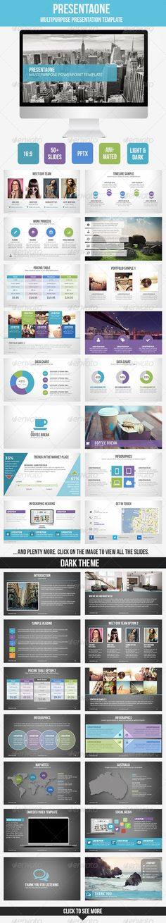 PresentaOne Multipurpose #PowerPoint Template.