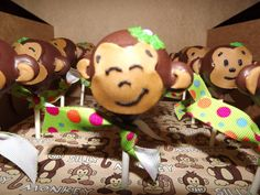 Monkey Cake Pops by thepopcakery1 on Etsy, $35.00