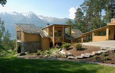 Einebustad  på  Kyte Open Plan, Cabin, House Styles, Home Decor, Nature, Room Decor, Open Floor Plans, Cottage, Open Concept