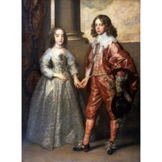Willem II & Henrietta Maria Stuart Anthony van Dyck (1599-1641 Flemish) Oil on canvas Rijksmuseum Amsterdam Netherlands Canvas Art - Anthony van Dyck (18 x 24)