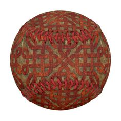 Reddish brown leather look celtic knot pattern.
