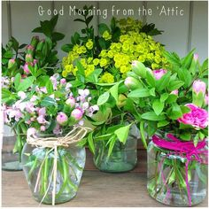 Flowers ready for the village fete