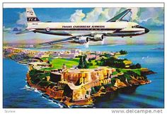 Trans Caribbean Airways DC-6B Airplane, 40-60s - Delcampe.com