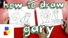 How To Draw Gary From Spongebob