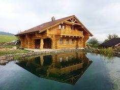 Srub Ženklava Log Homes, Cabin, House Styles, Travel, Home Decor, House, Timber Homes, Homemade Home Decor, Log Houses
